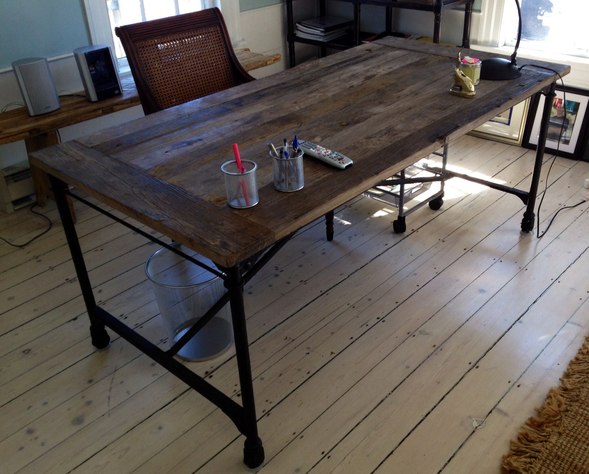 Rustic industrial table/desk Home Decor Pinterest
