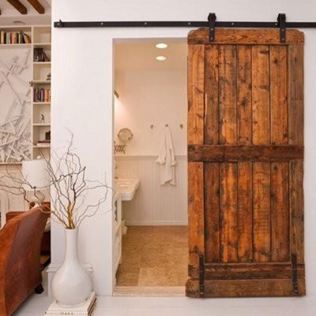 Barn doors on rollers for the home homes i love for Barn door rollers