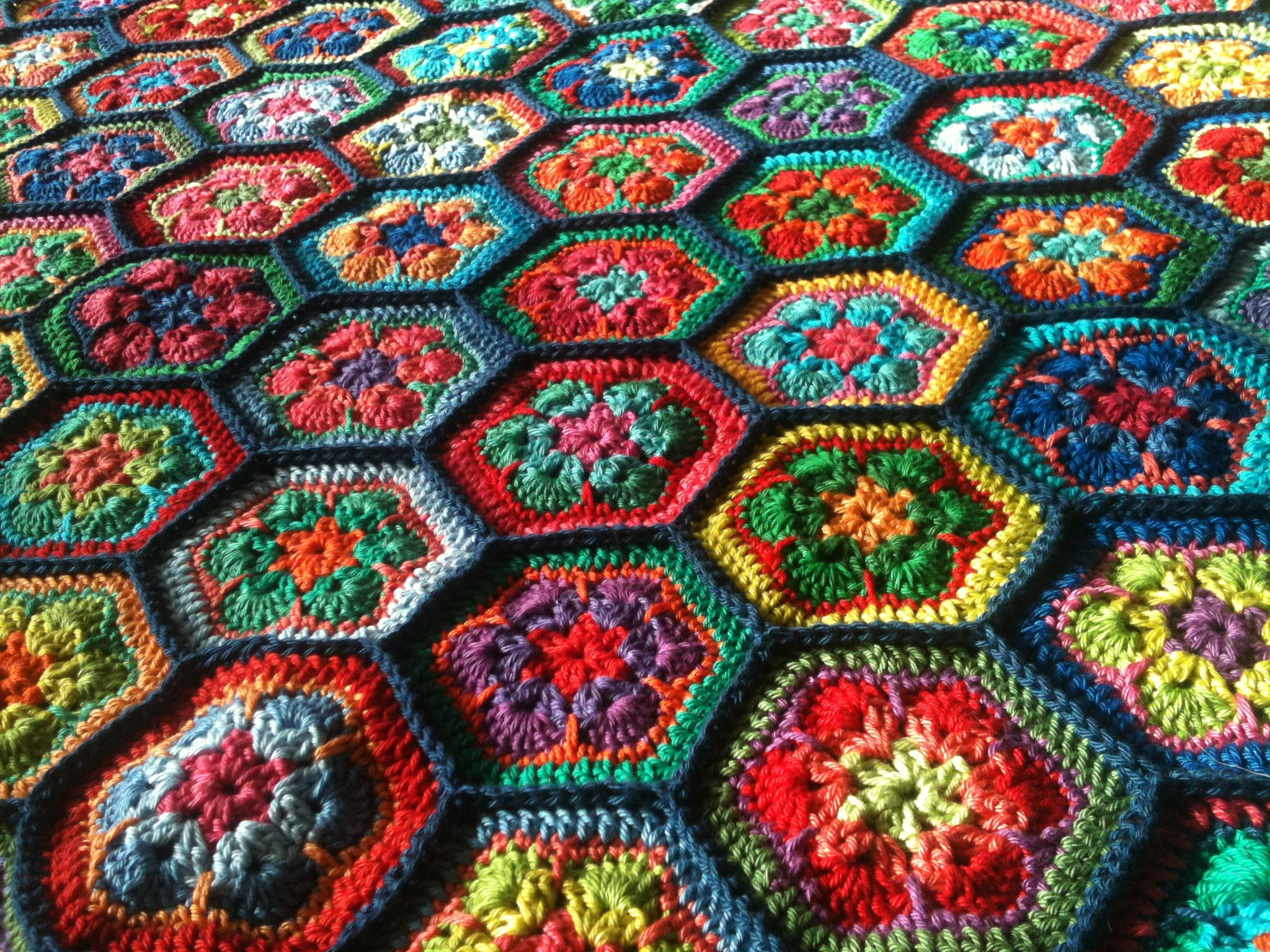 Crochet blanket - afghan flower pattern crochet afghan ...