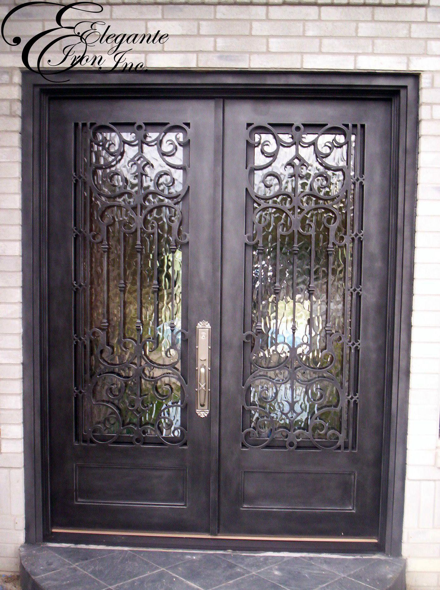 1894 #695E49 Custom Wrought Iron Front Door. Double Doors Pinterest picture/photo Rod Iron Front Doors 43091412