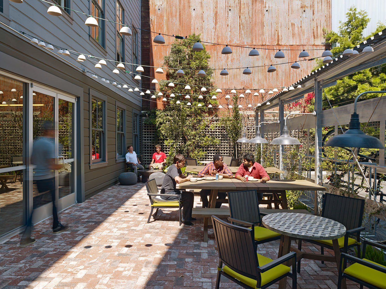 outdoor work cafe corporate spaces pinterest