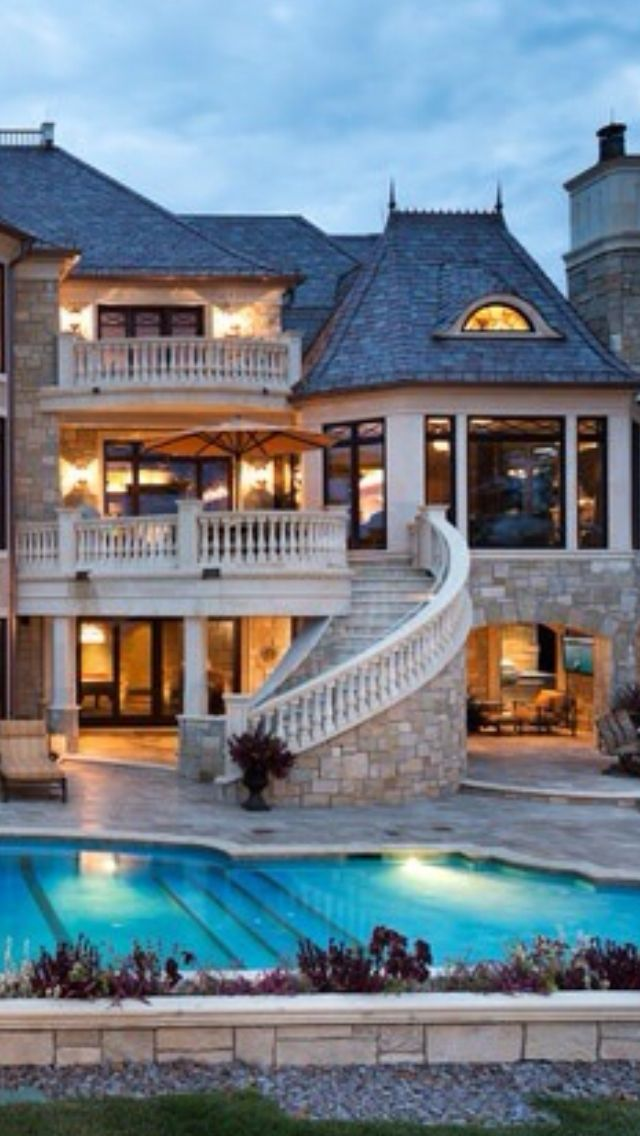 Luxury homes pools why not pinterest for Exclusive house