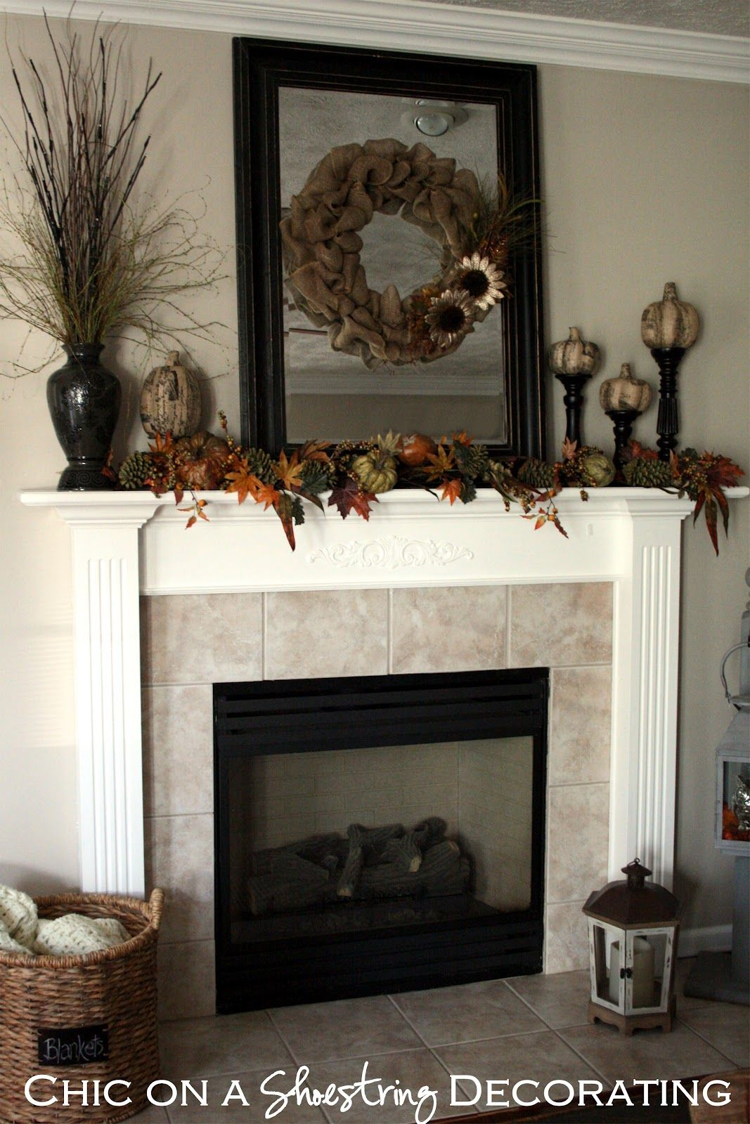 More ideas for the fireplace mantel Decor