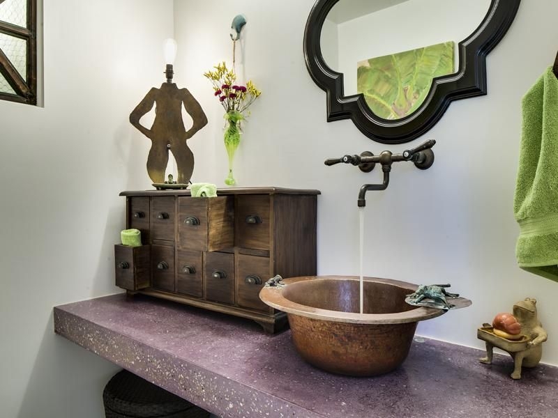 Frog themed bathroom my dream wiccan home decor for Pagan decorations for the home