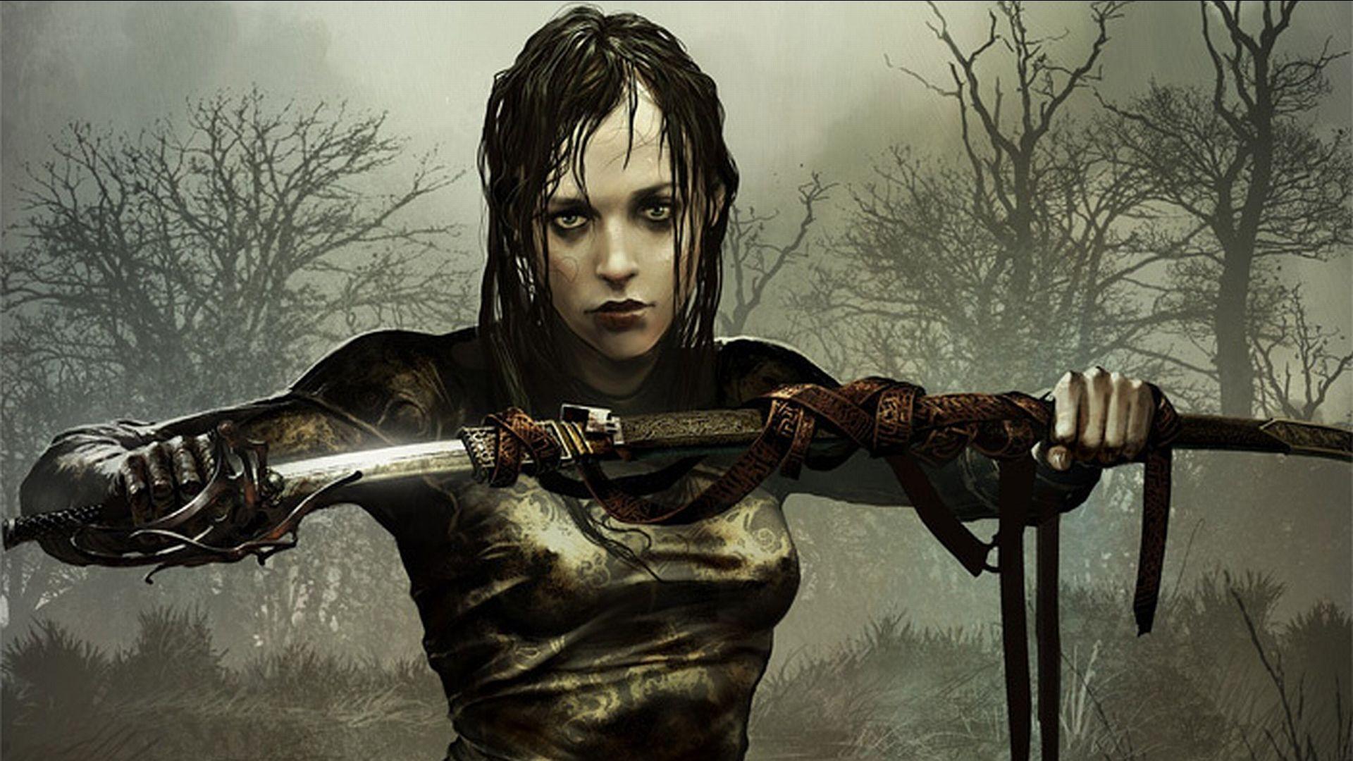 Gothic warrior women sexy clips