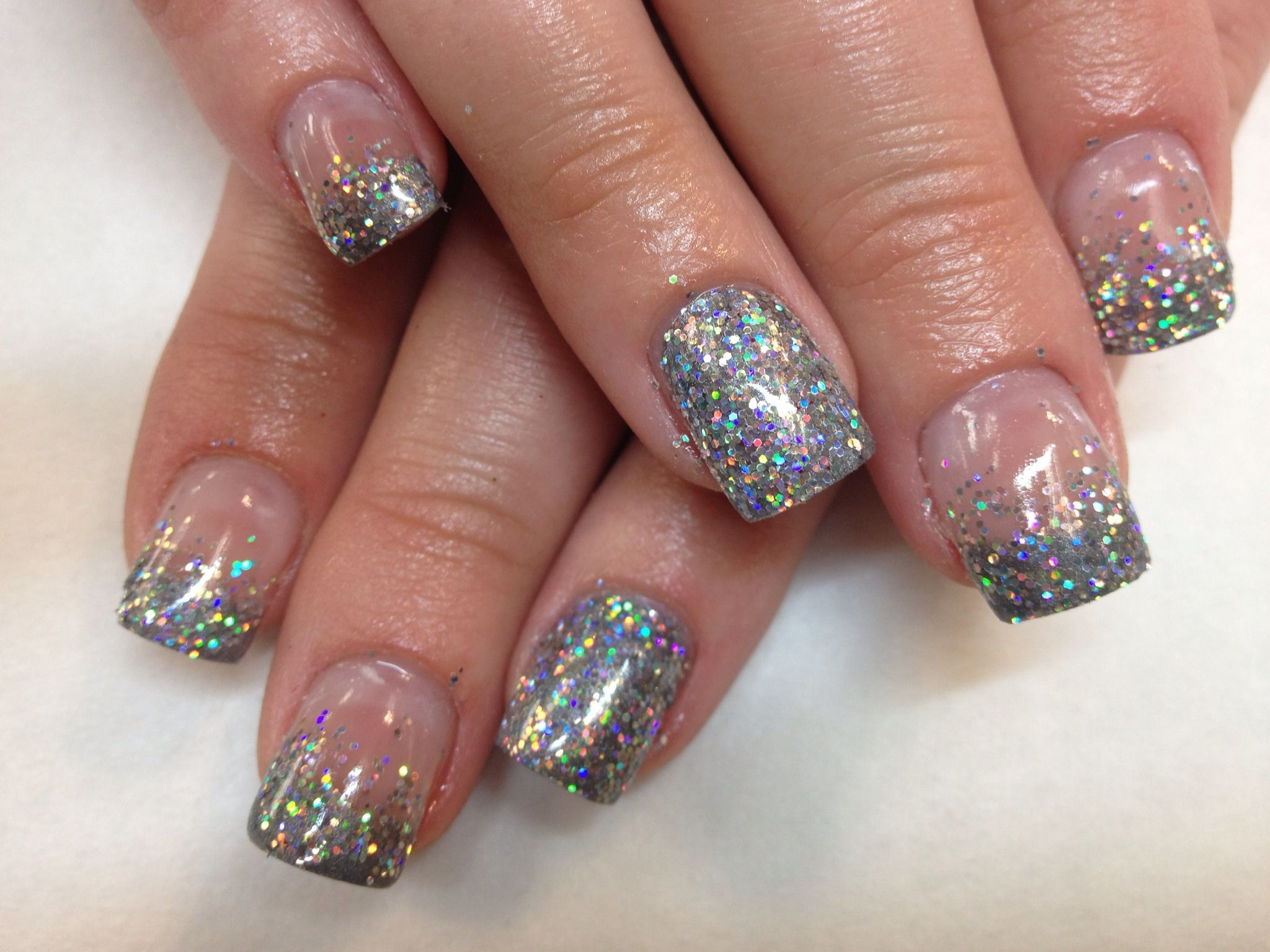 how to add glitter to gel polish