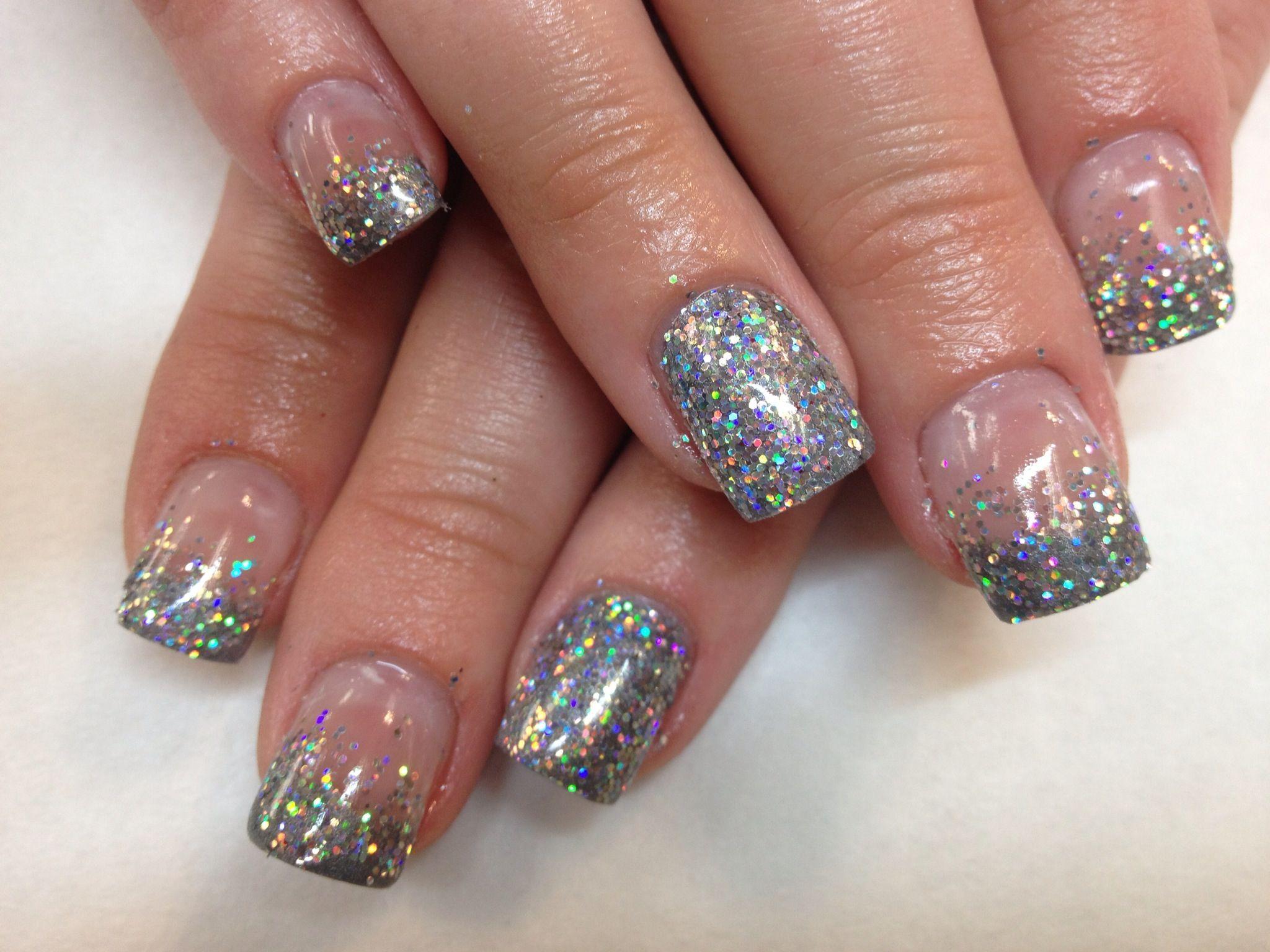 how to add glitter to gel polish