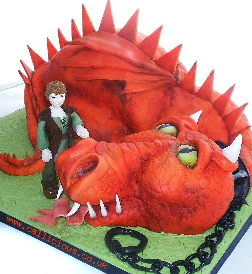 how to train your dragon cake supplies