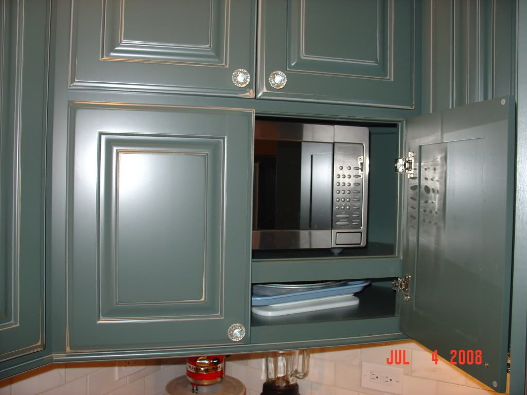 Microwave Behind Cabinet Doors Kitchen Dining Room Pinterest