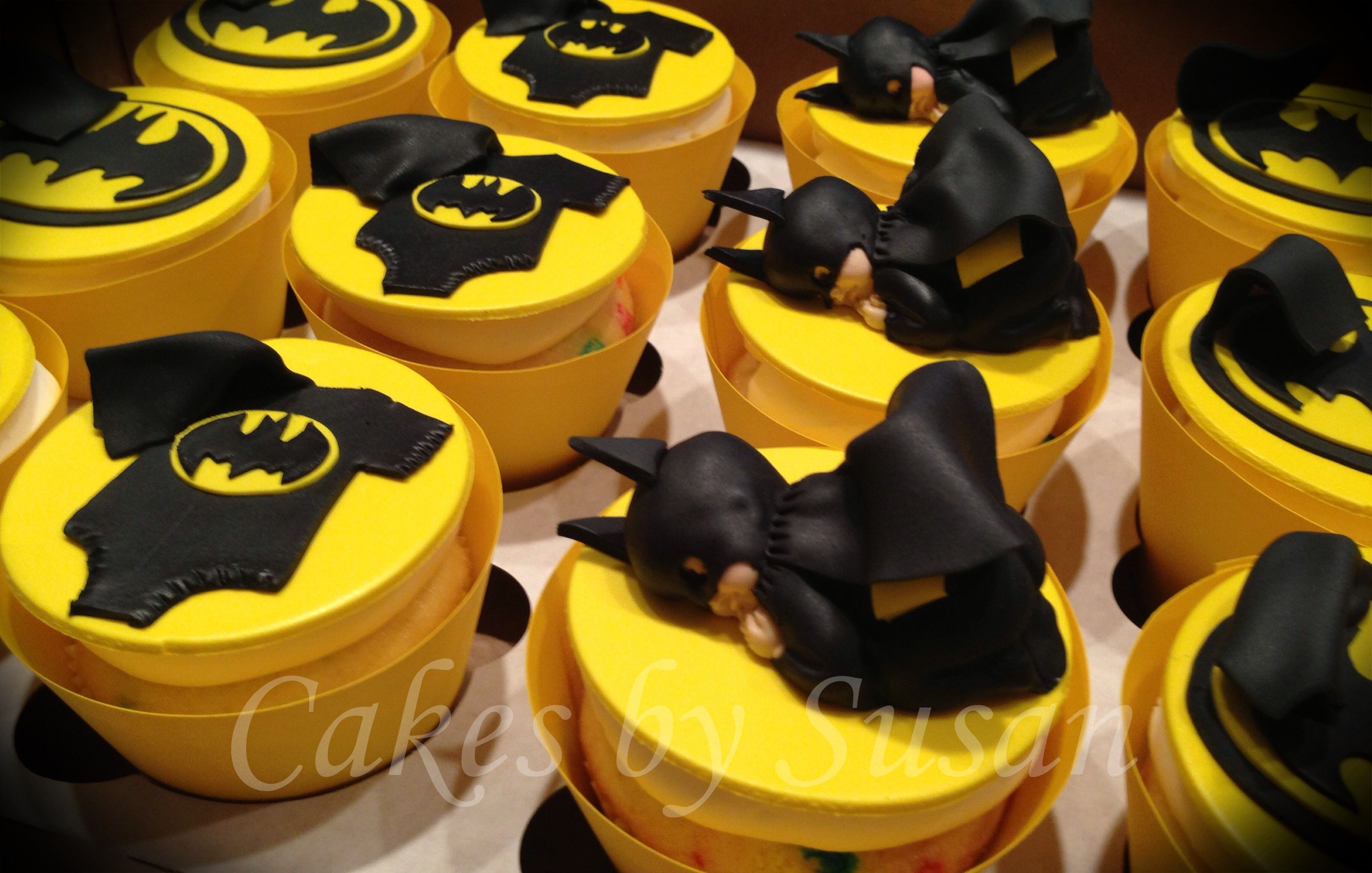 batman baby shower cupcakes custom cakes by susan pinterest