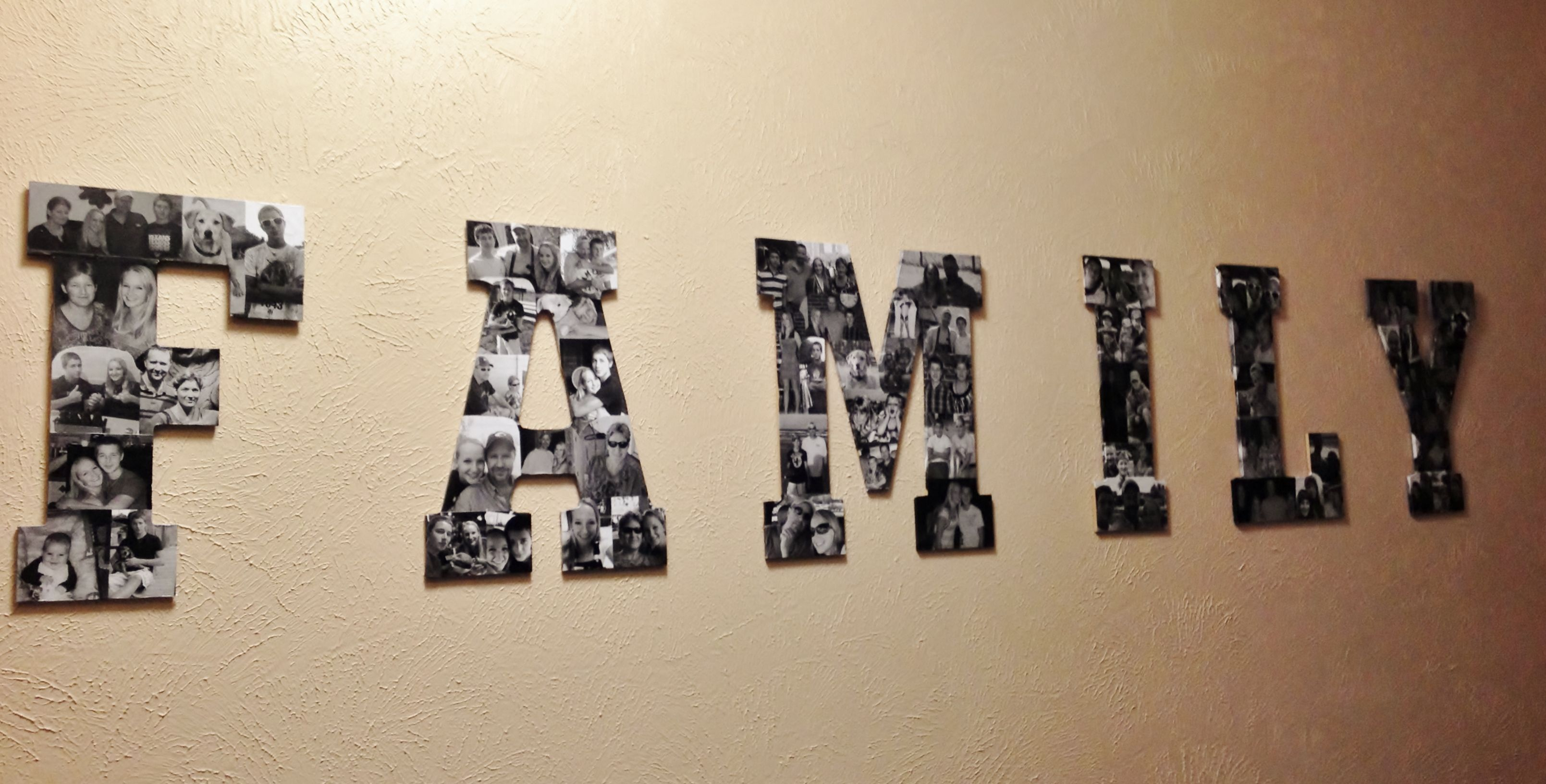 Letter picture collage craft ideas pinterest
