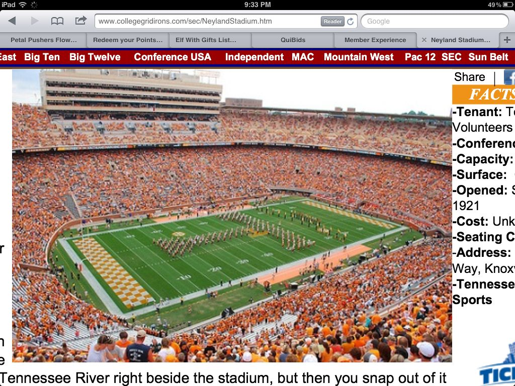 Tennessee Football Field