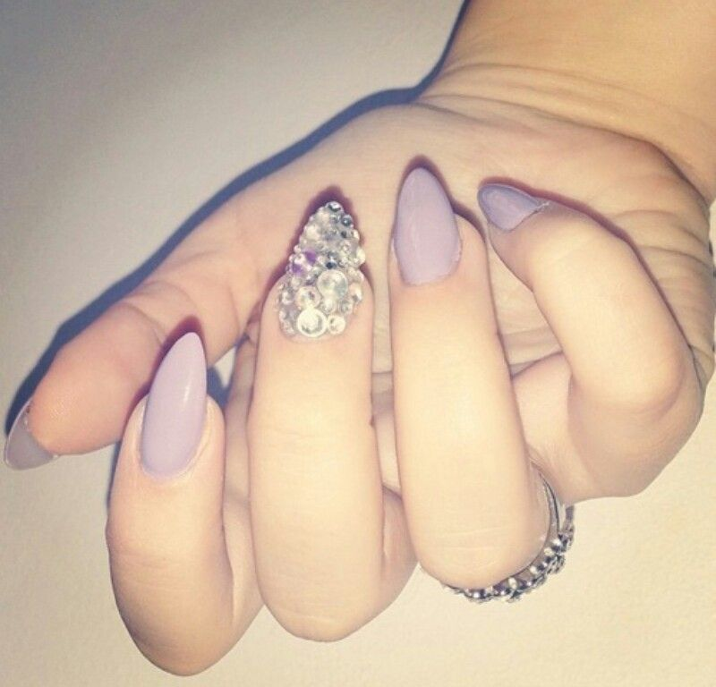 Pin it Like ImageLight Purple Stiletto Nails