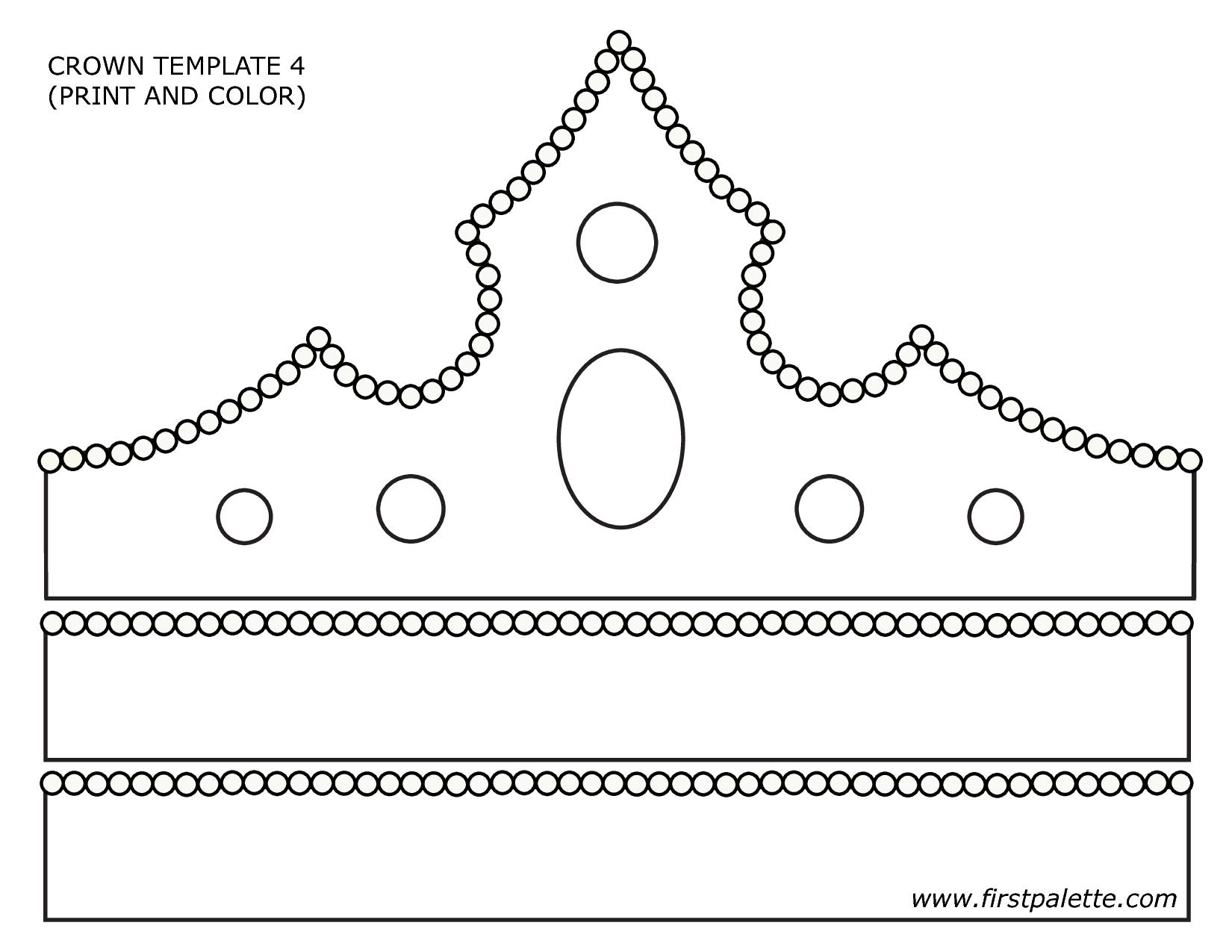 Шаблон для короны принцессы своими руками