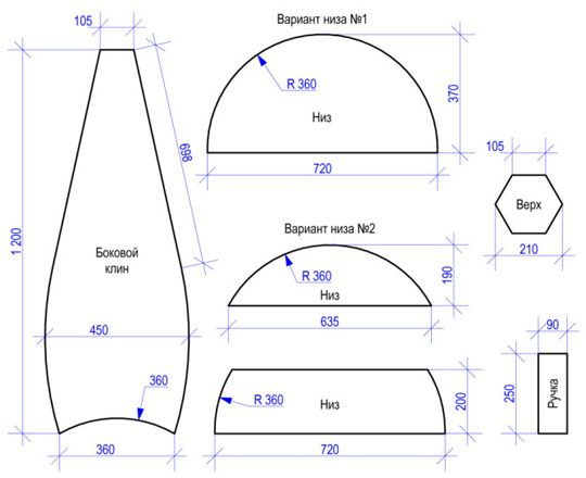 Как сделать выкройку для сиденья 934