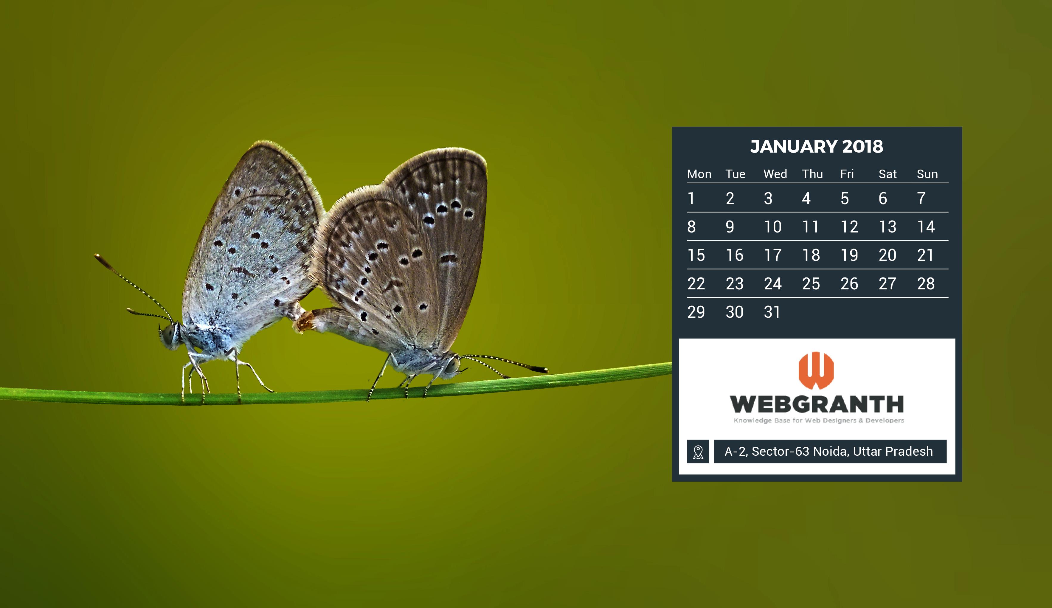 Wallpaper Calendar 2018: Download 2018 Calendar Wallpaper Free ...