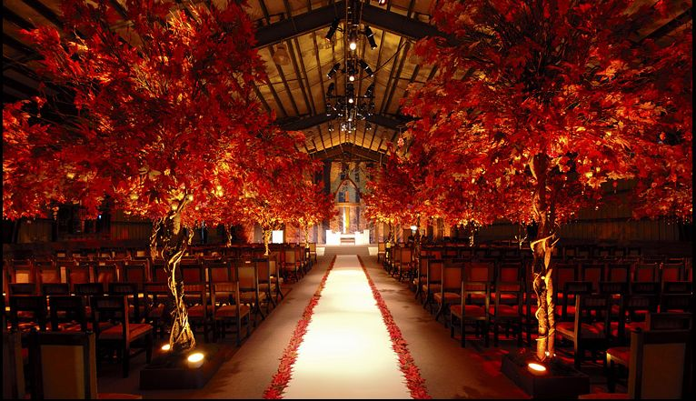 Indoors fall wedding ceremony wedding ideas pinterest for October wedding decoration ideas