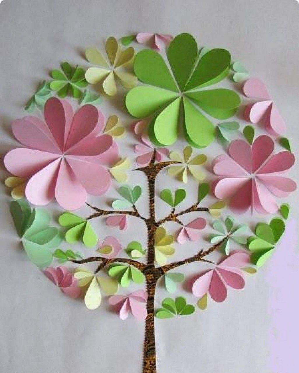 Дерево цветы своими руками из бумаги