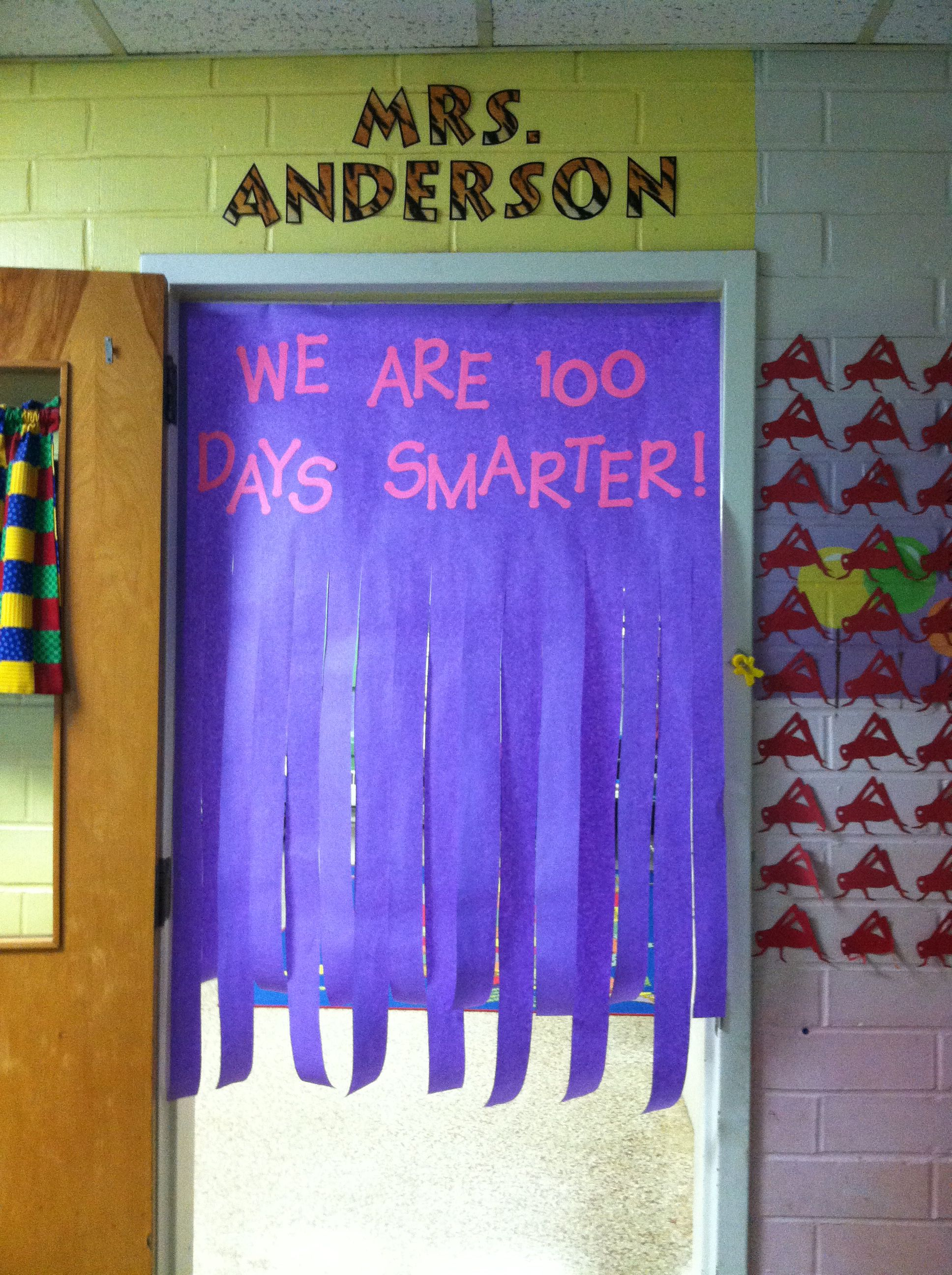 100th day door decoration 100th day pinterest for 100th day of school decoration ideas