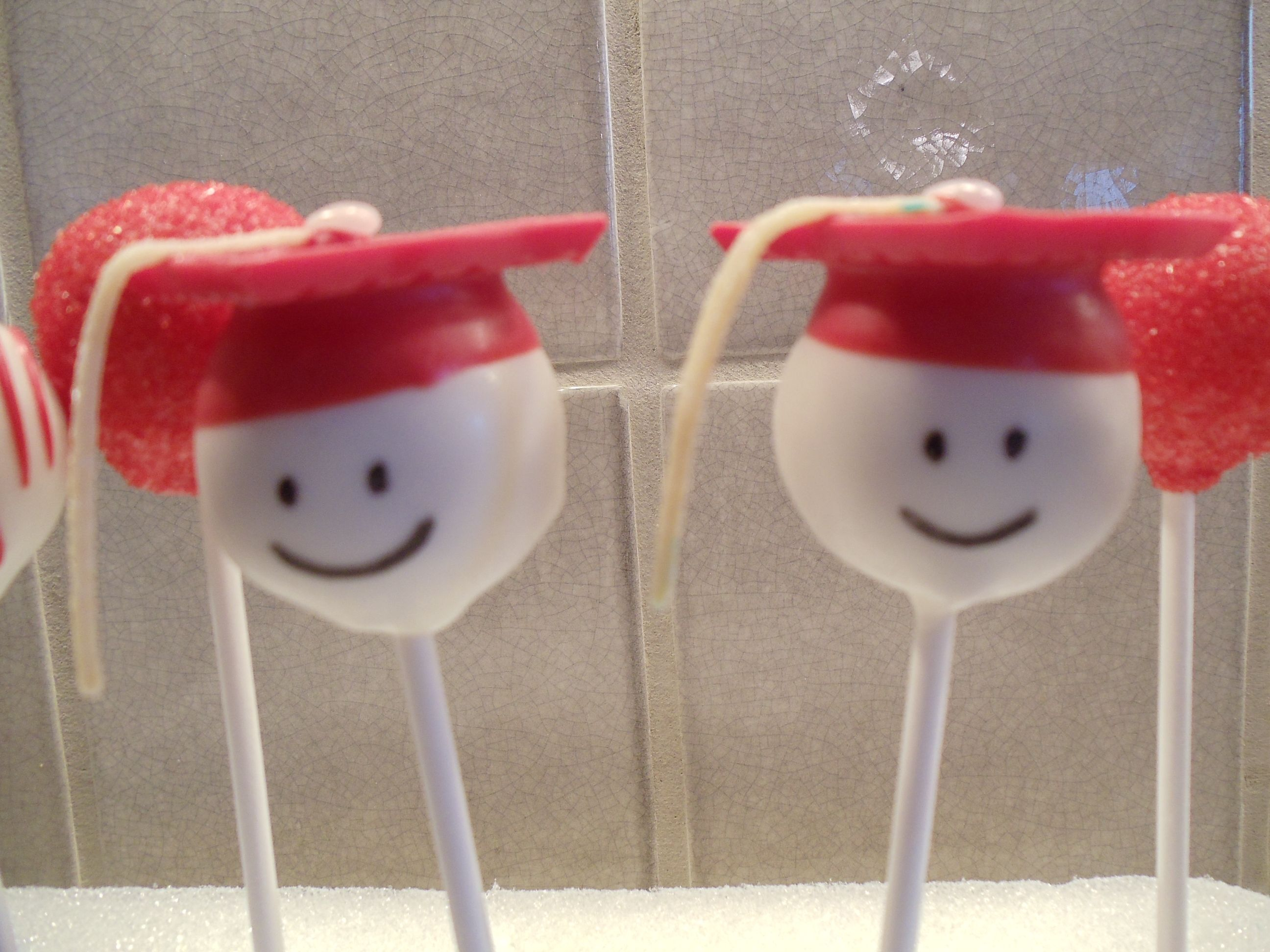 Red graduation cake pops party ideas pinterest