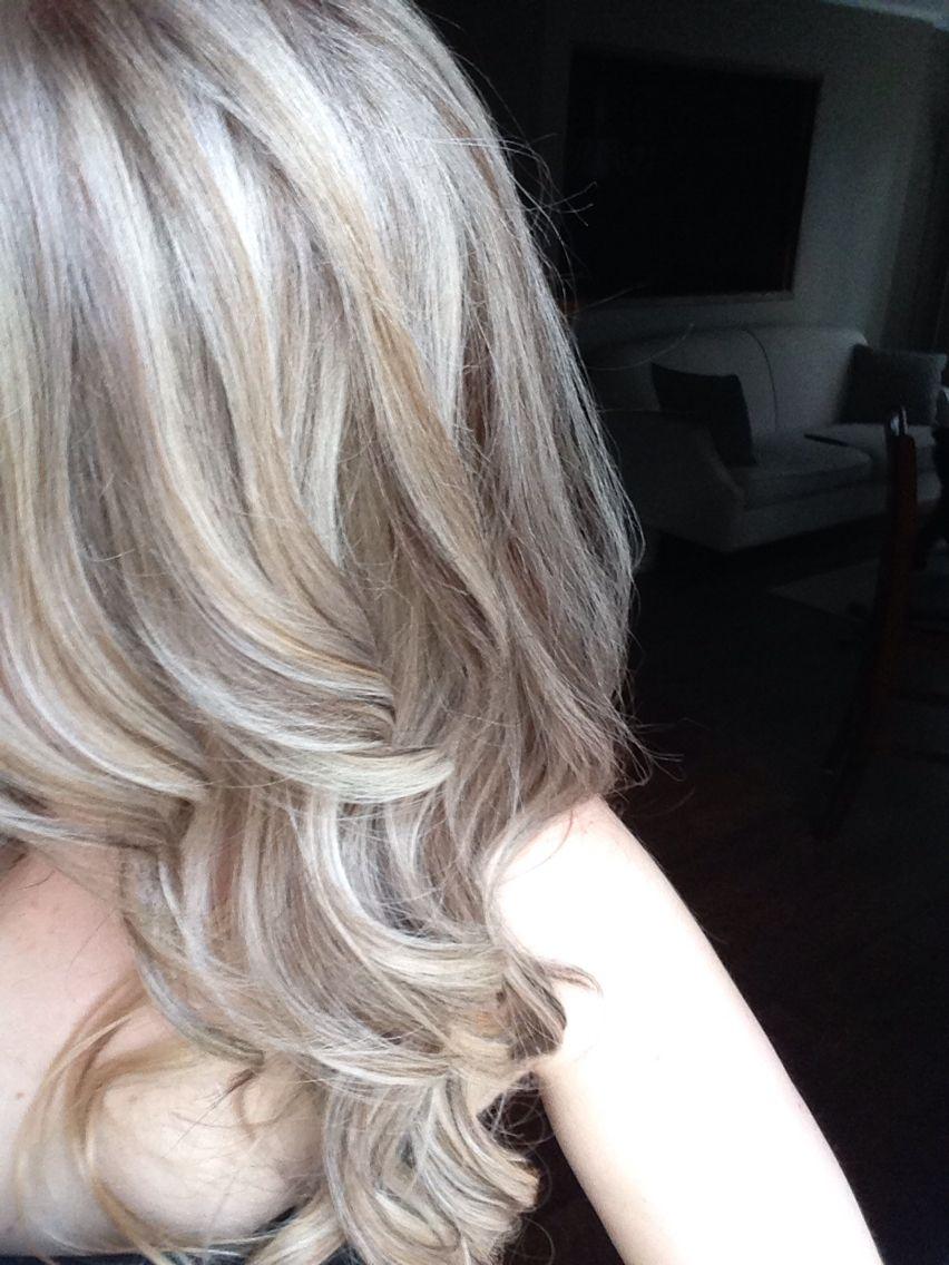 Platinum blonde highlights on ash blonde hair