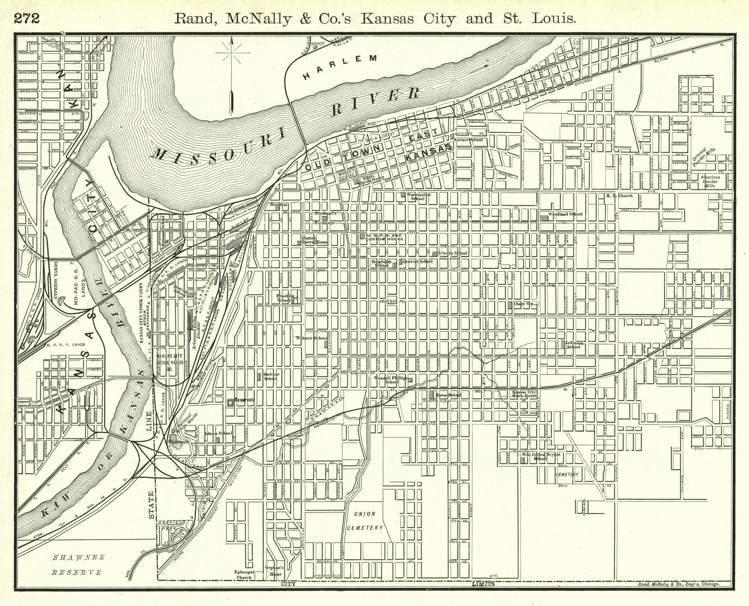 All Sizes Kansas City Street Map 1889 Flickr Photo
