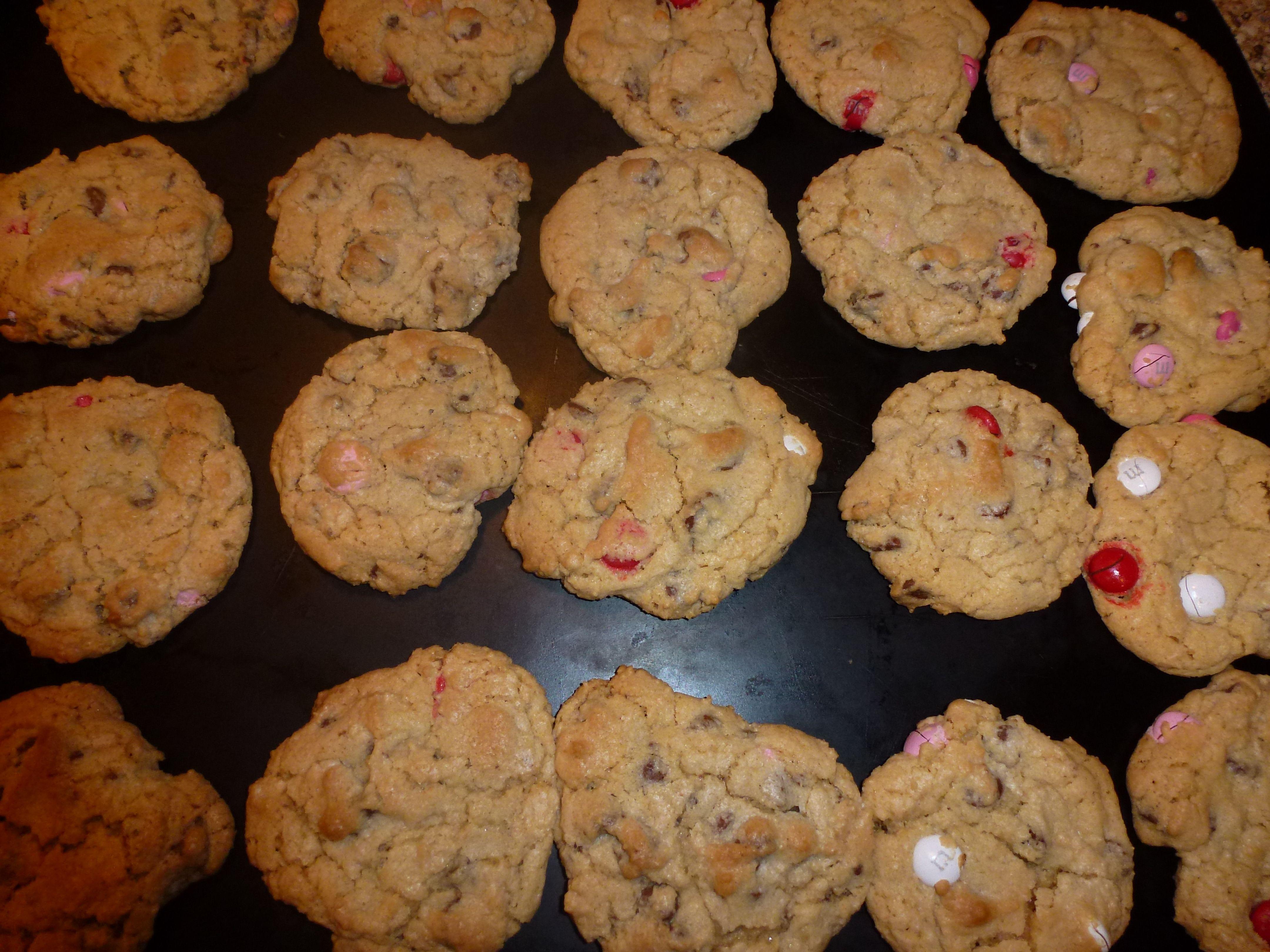 valentine's day m&m cookie recipe