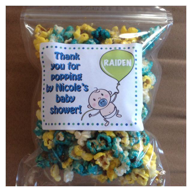 ready to pop popcorn favor baby wedding showers pinterest