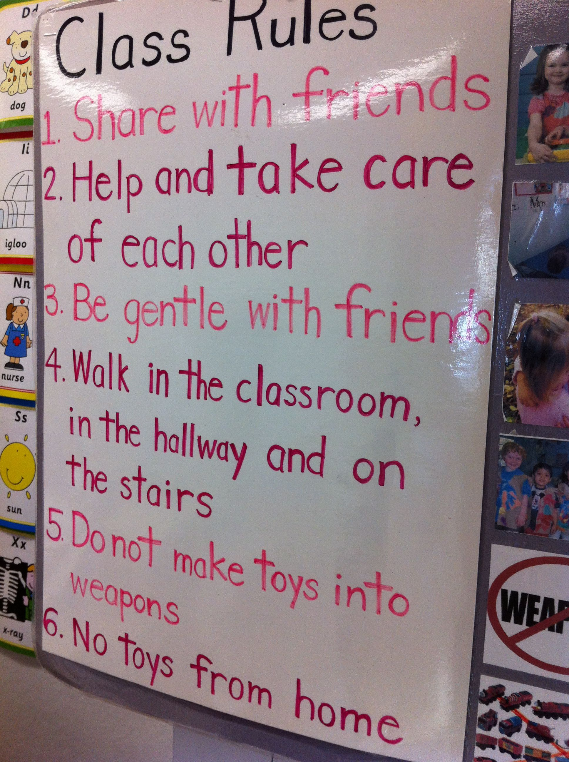 Preschool classroom rules with pictures index images frompo