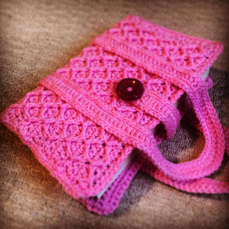 Crochet Book Cover Tutorial ~ Crochet book cover crocheting pinterest