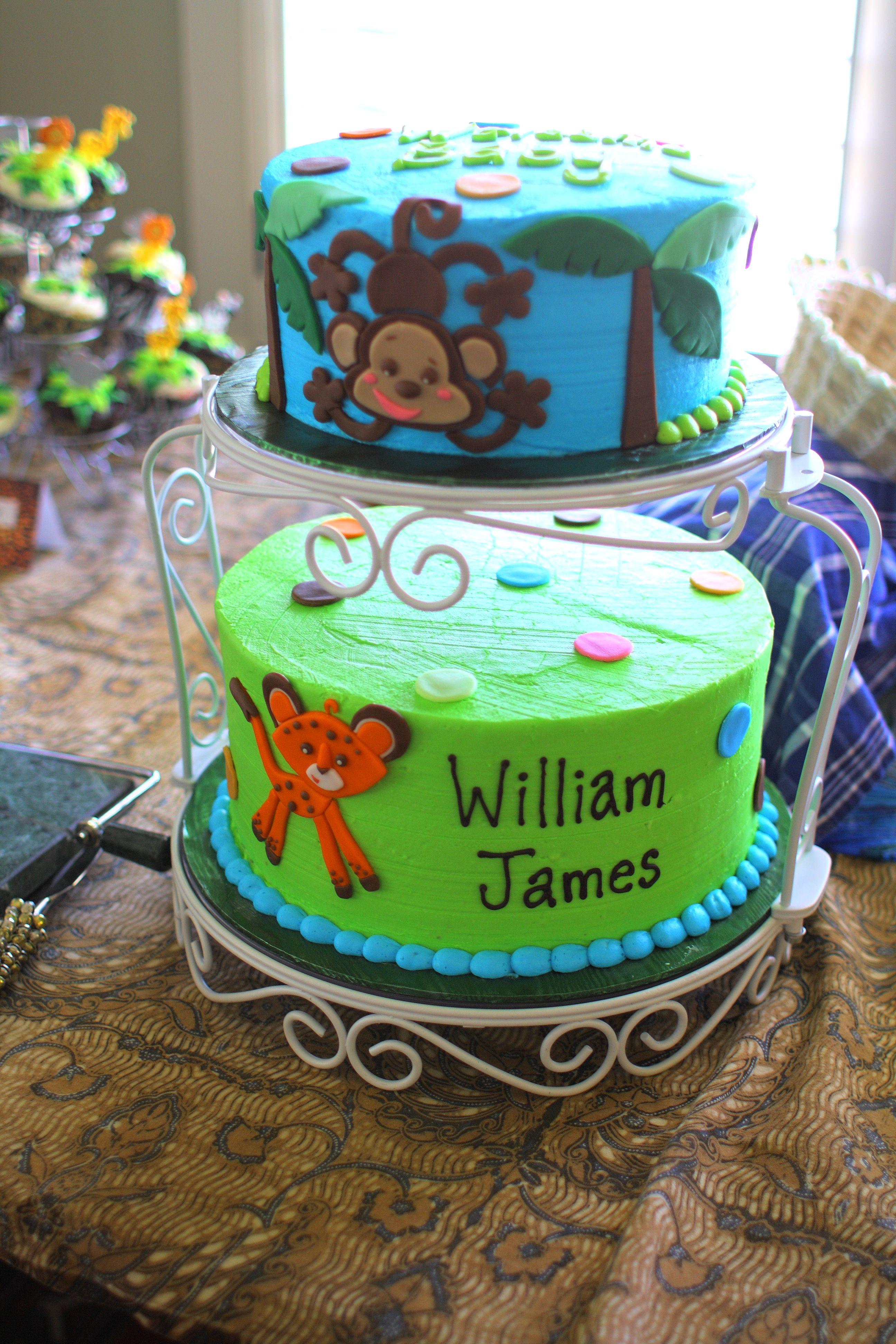 jungle animal theme baby shower cake baby showers pinterest