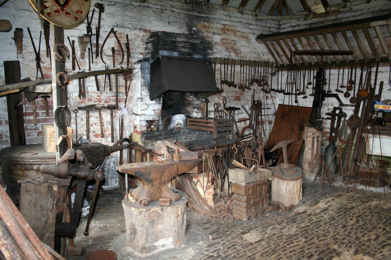 Old fashioned blacksmith forge