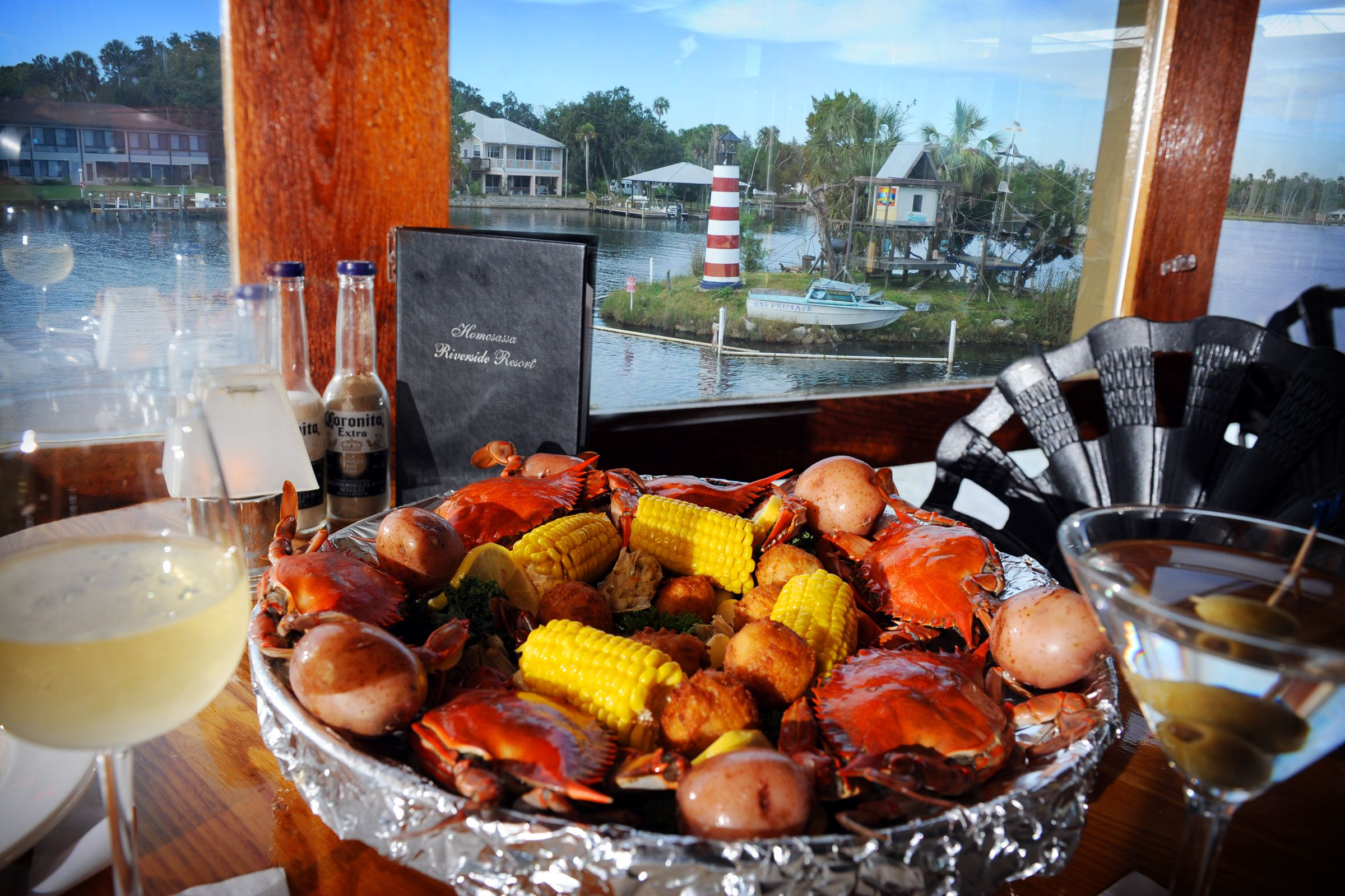 Restaurant with a view riverside crab house yardarm lounge monkey island homosassa