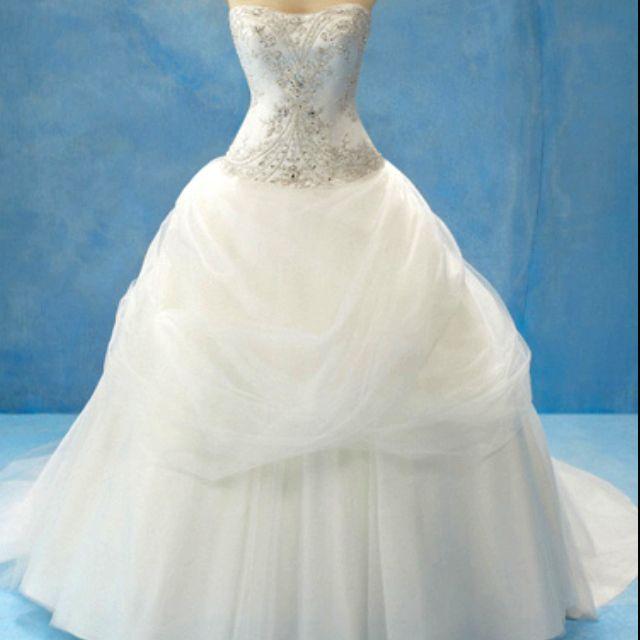 Disney 39 s belle inspired wedding dress when i take his for Disney inspired wedding dresses