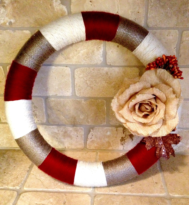 Fall yarn wreath | WREATHS | Pinterest