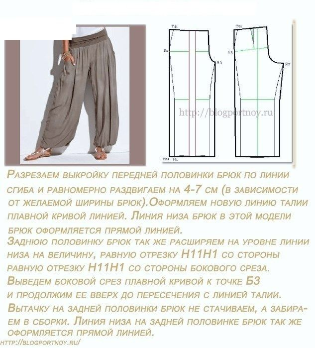 Как сшить модные брюки своими руками 37