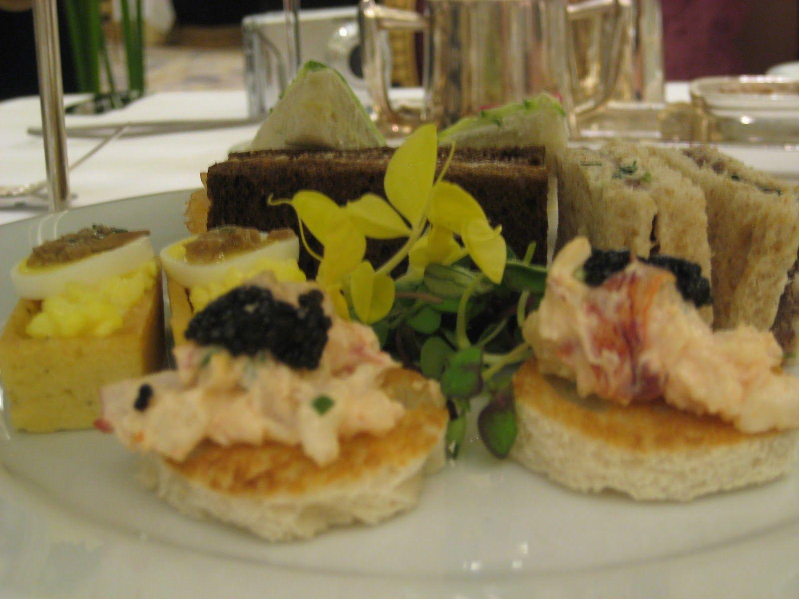 Sturgeon Caviar and Lobster Sandwich | Afternoon Tea Time | Pinterest