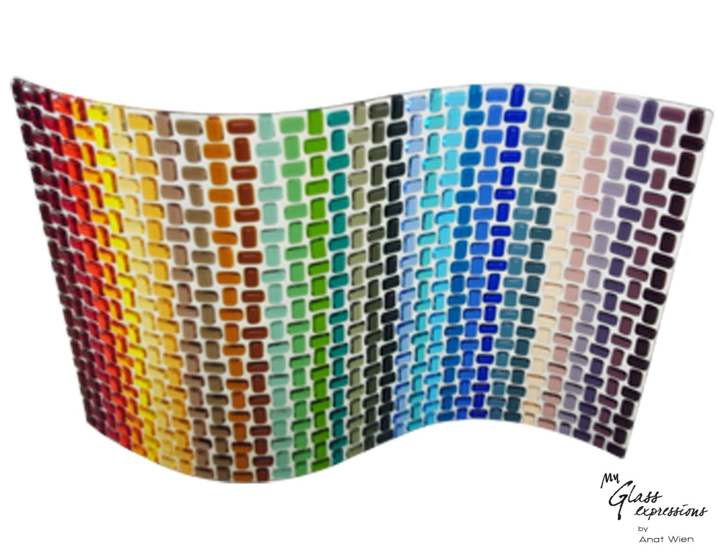 Wall Art Fused Glass : Woven look fused glass wall art that i love