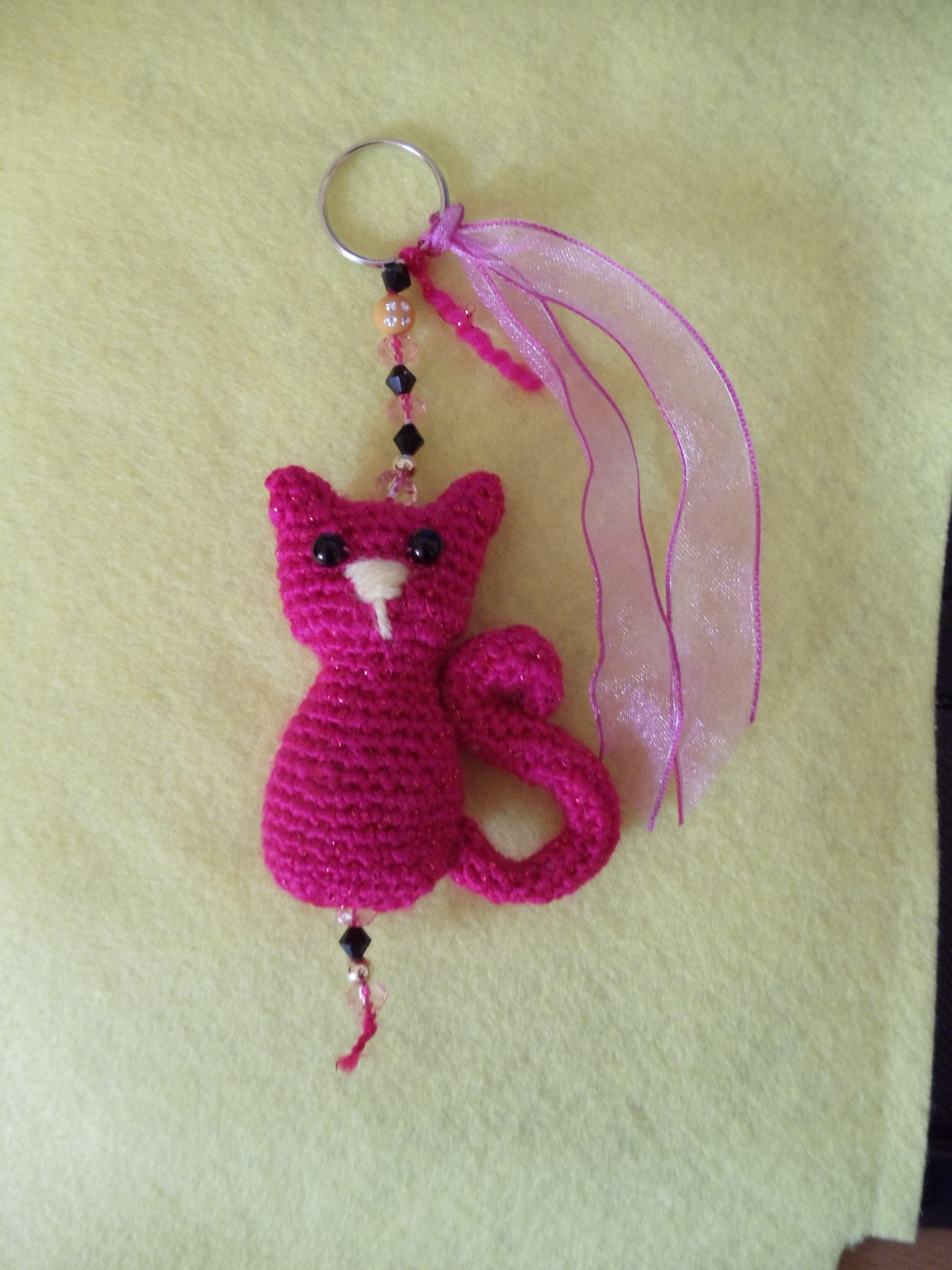 Cat Keychain Crochet Crochet Pinterest