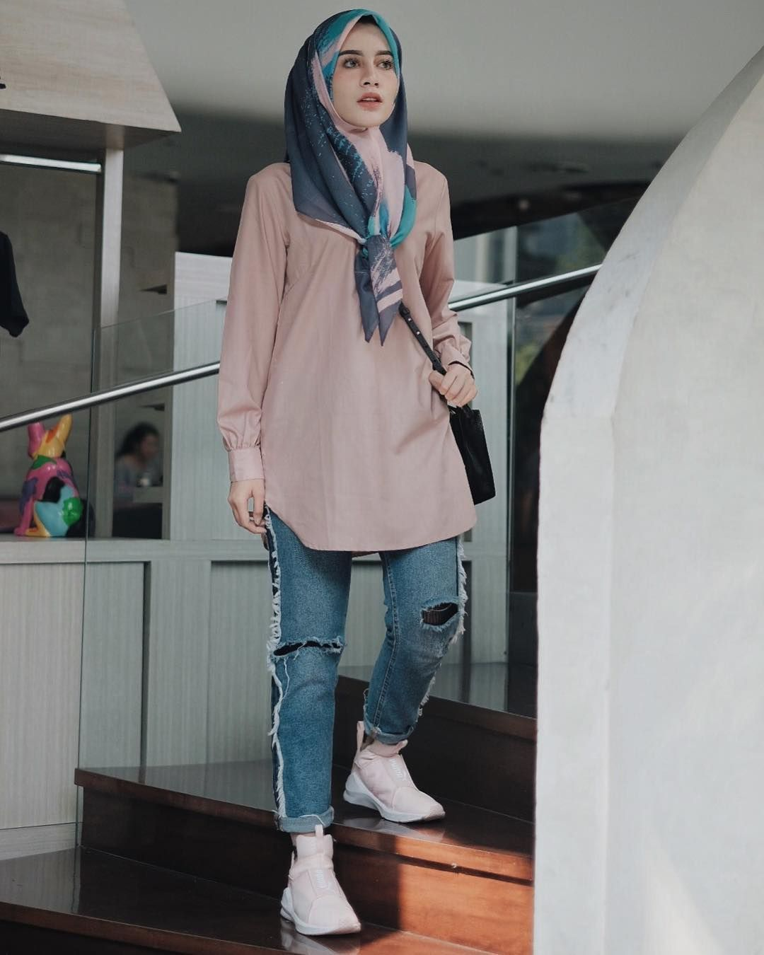 Fashionable hijab styles step by 61