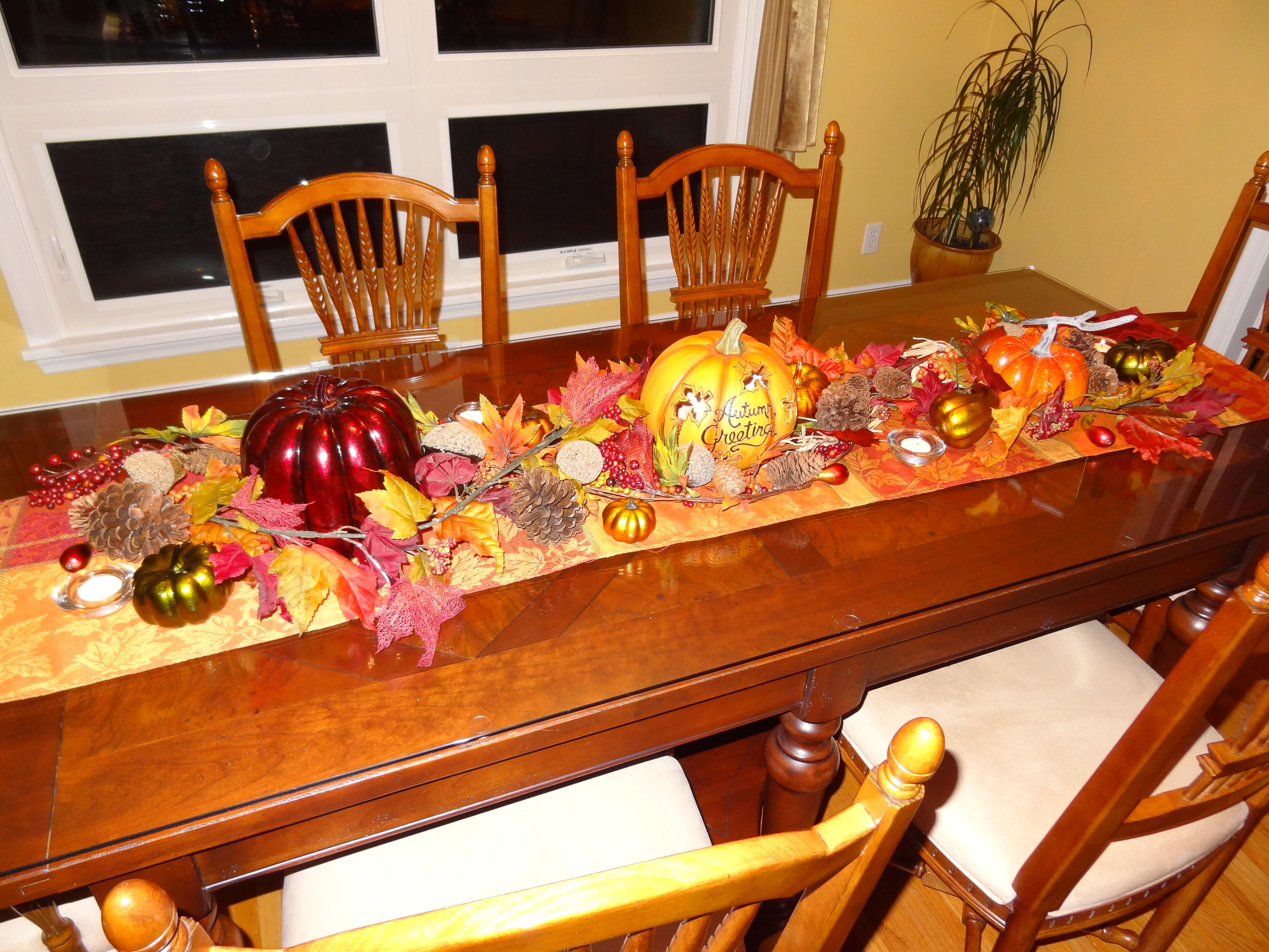 Fall decorations for dining room table holiday fun