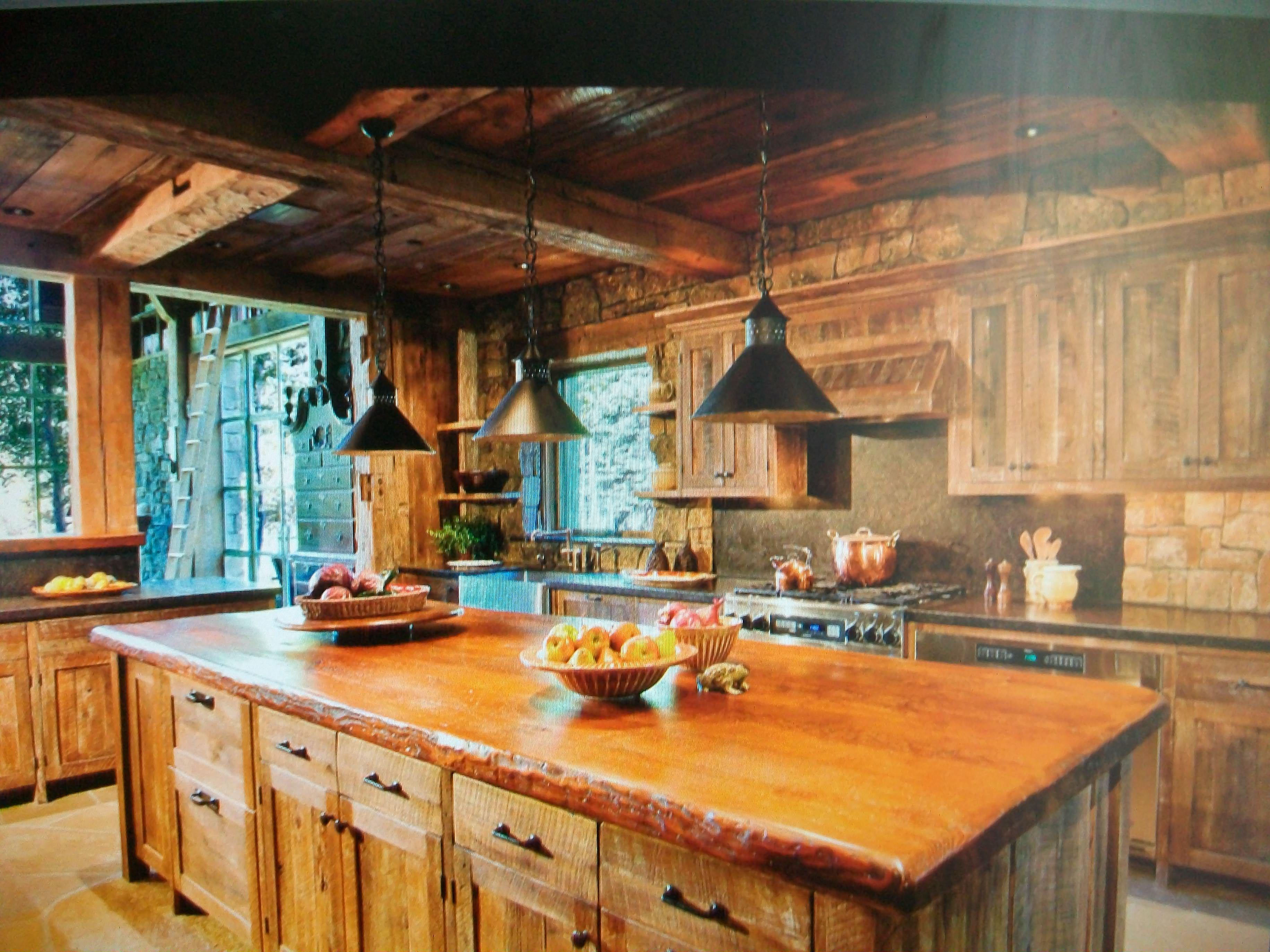 Cabin kitchen cabin ideas pinterest for Cabin kitchen ideas