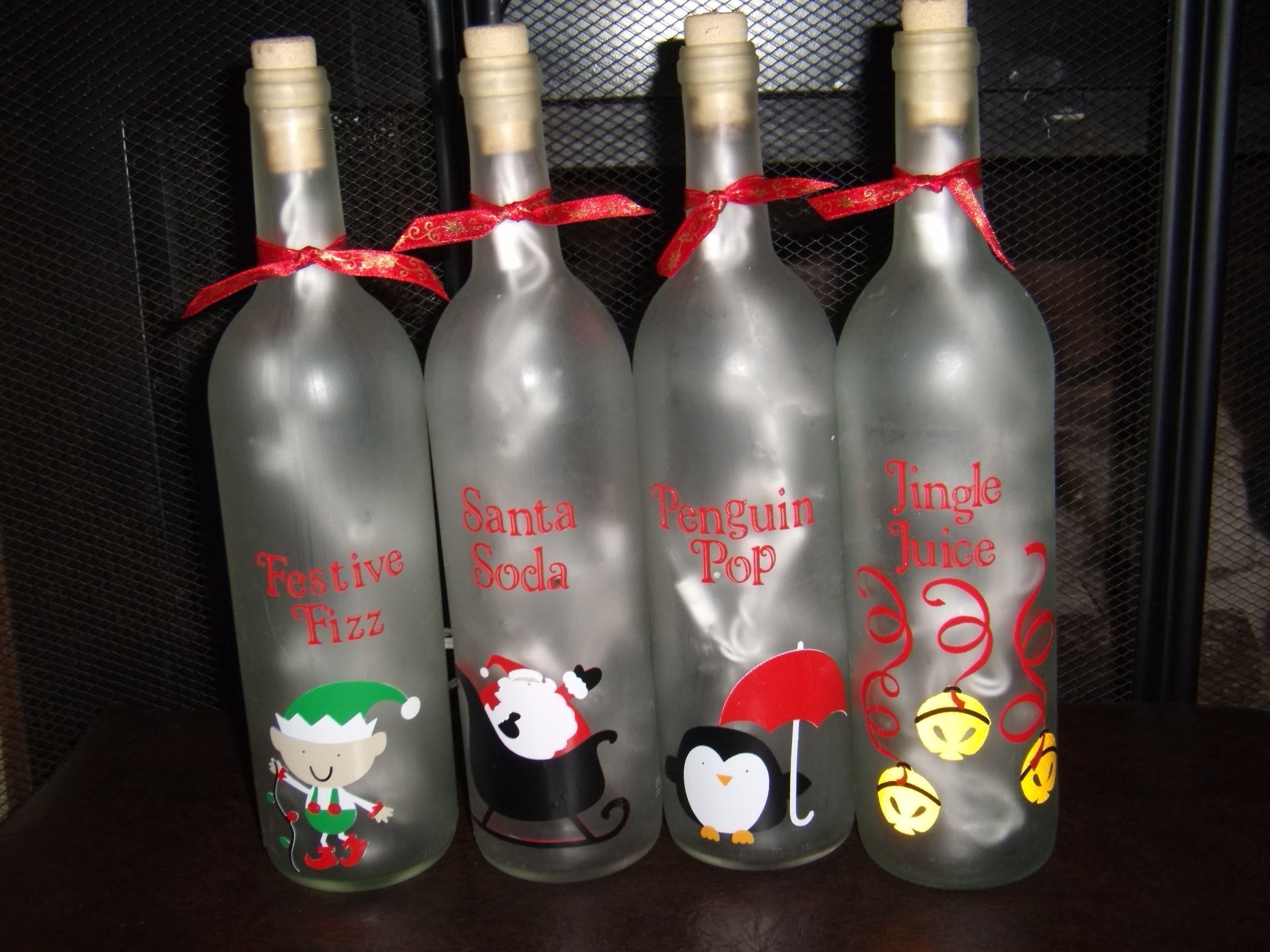 28 best wine bottle christmas crafts christmas wine for Bottle craft