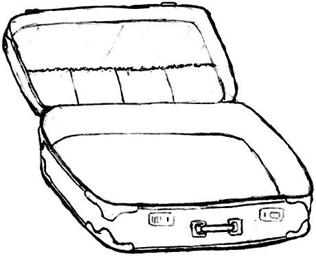 Suitcase With Clothes Coloring Sheet Colouring Pages