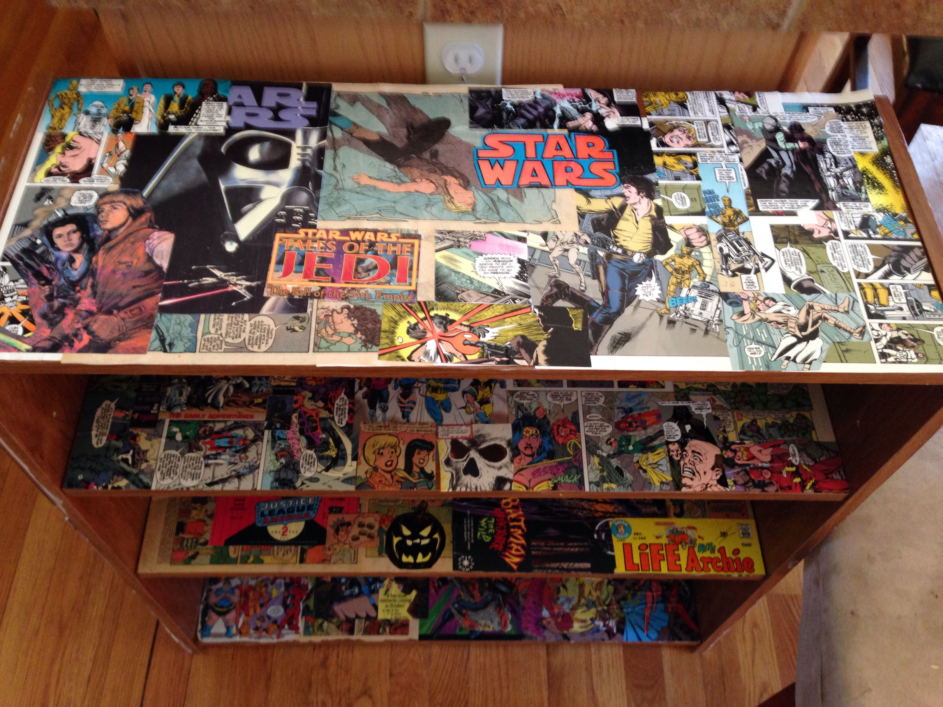 comic book shelves and displays book covers. Black Bedroom Furniture Sets. Home Design Ideas