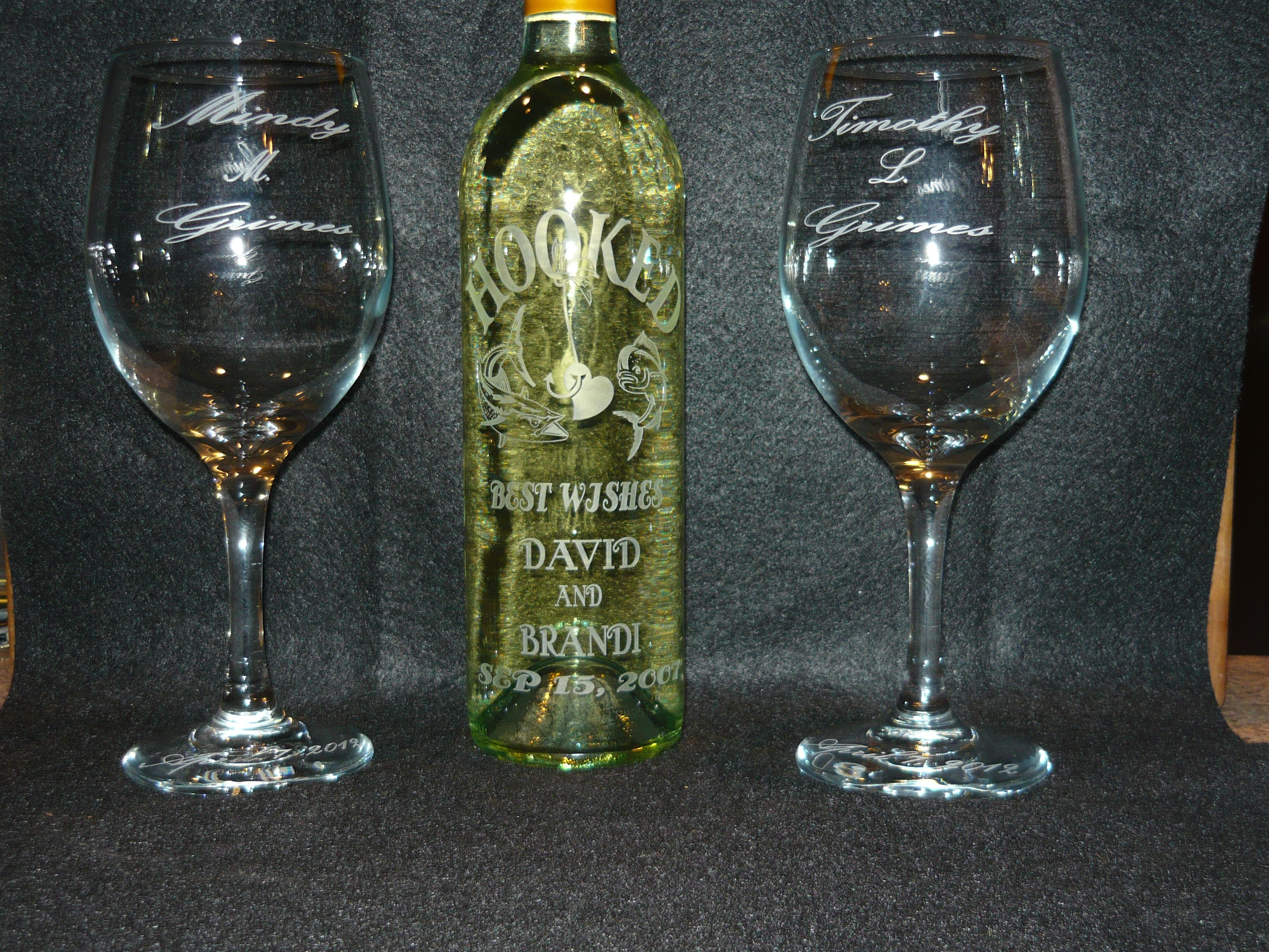 Custom etched wine bottle etched glass ceramics for Glass bottles for wine