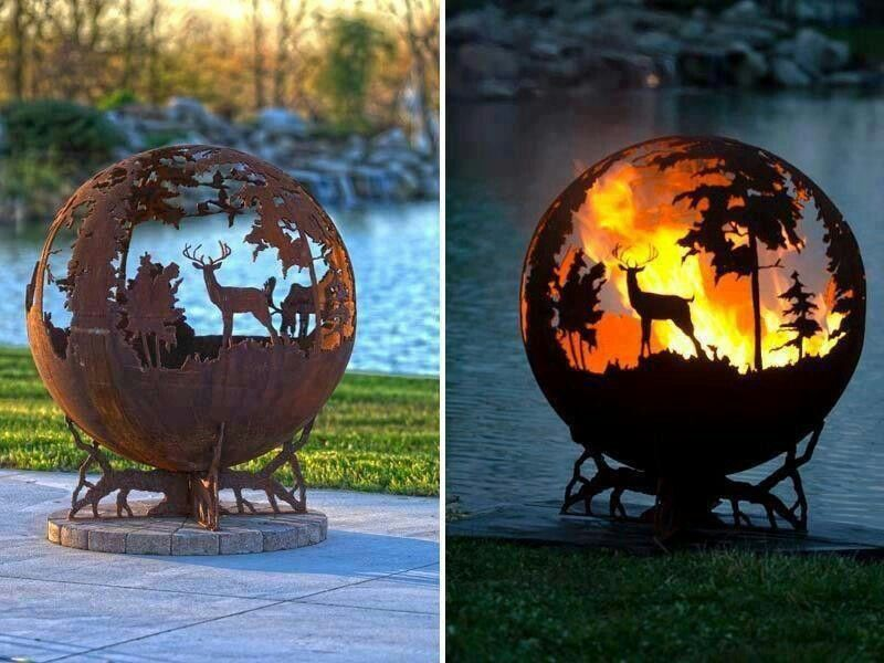 this is cool globe fire pit wish list pinterest. Black Bedroom Furniture Sets. Home Design Ideas