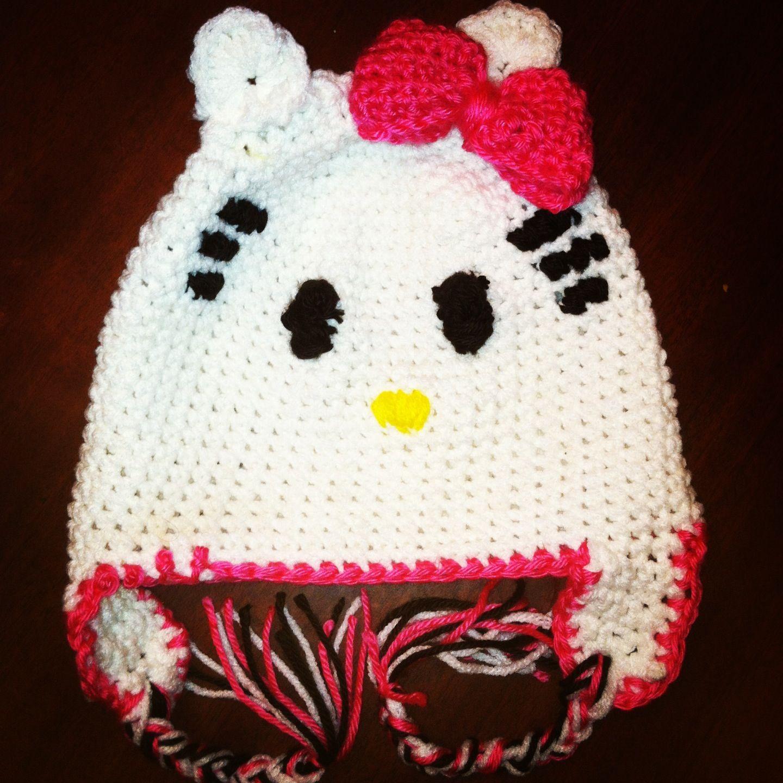 Hello kitty crochet hat Crochet Pinterest