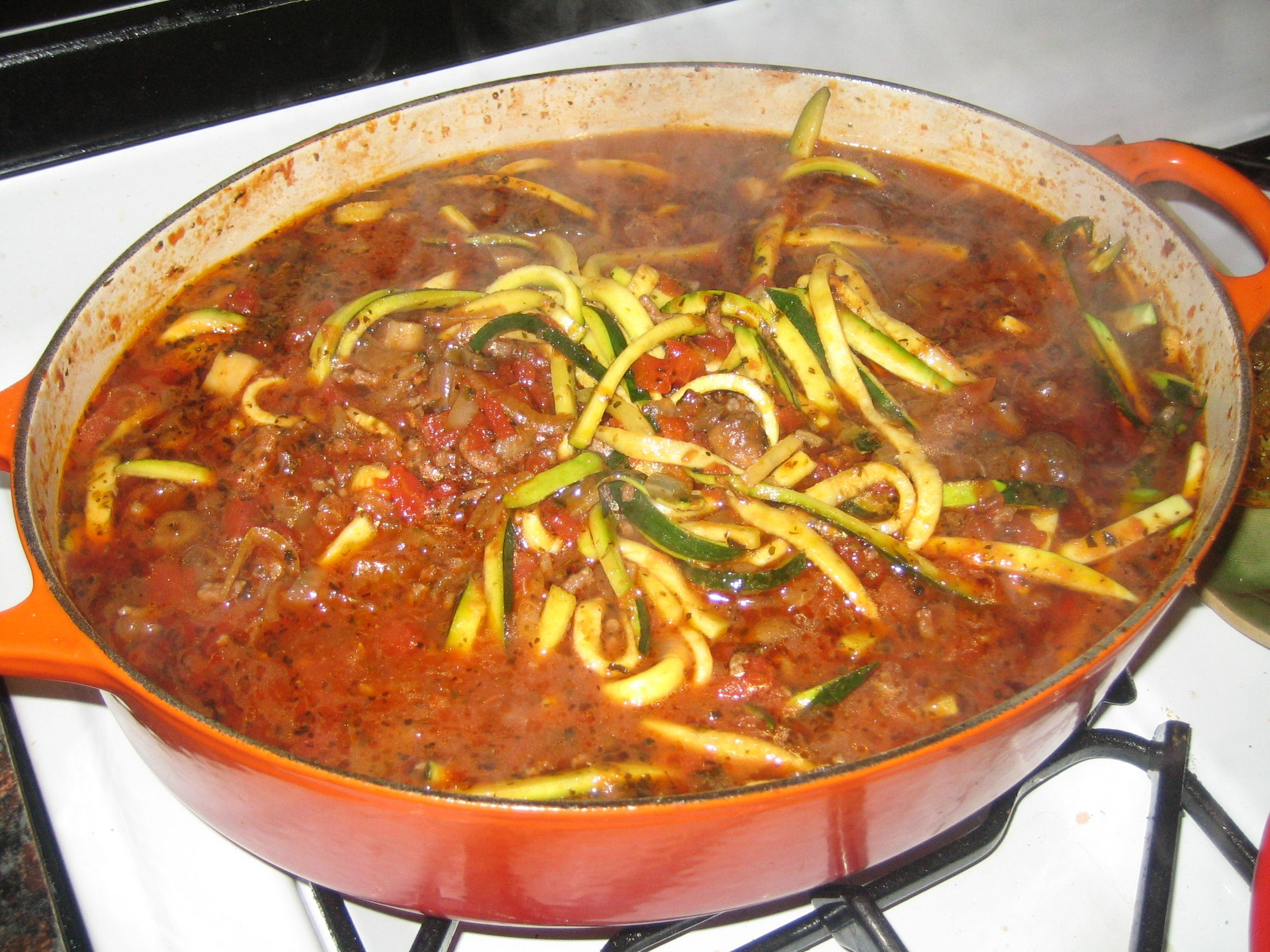 Zucchini Pasta & Italian Meat Sauce | Foods | Pinterest