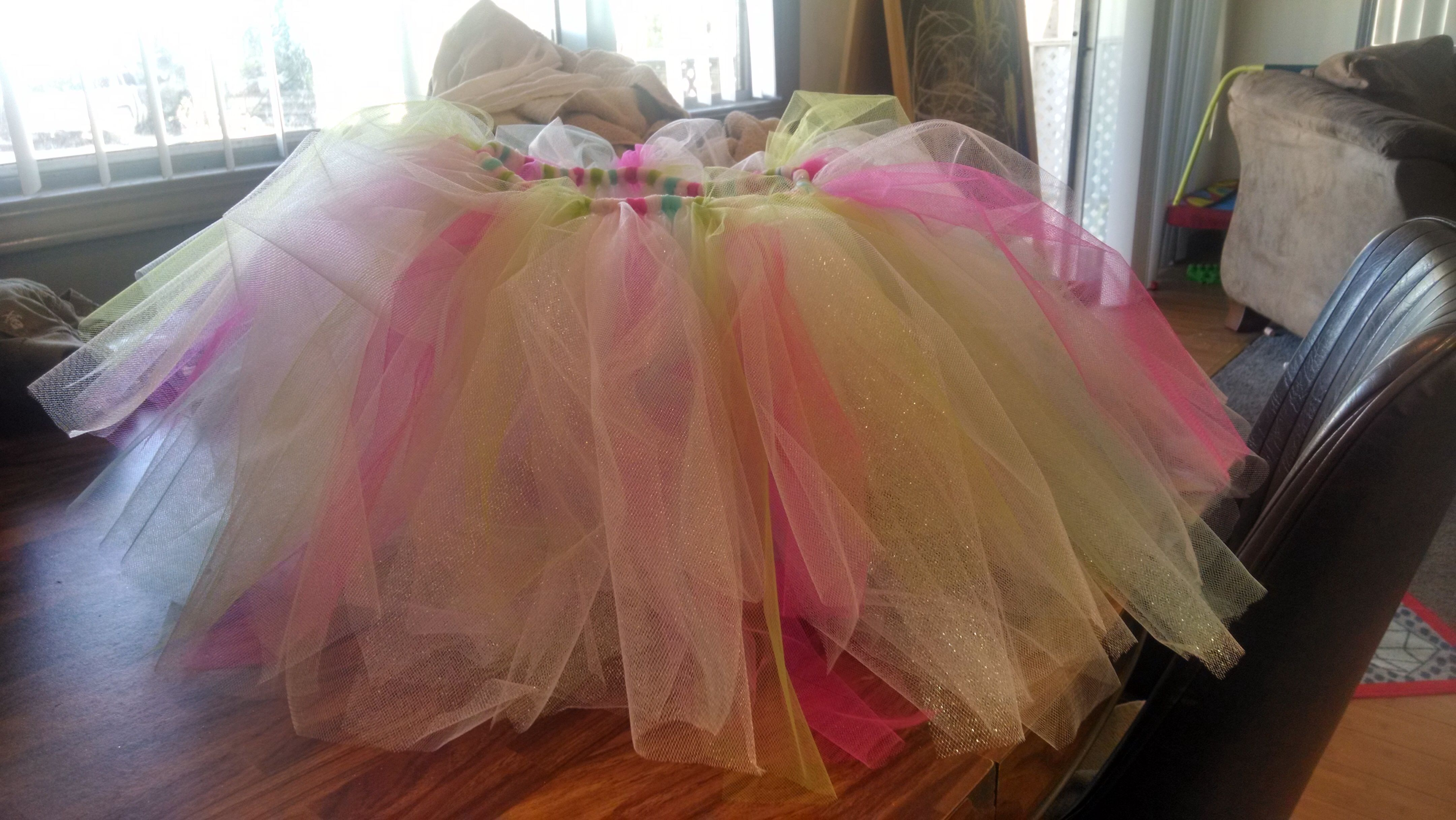 My 1st tulle no sew tutu skirt diy crafts pinterest